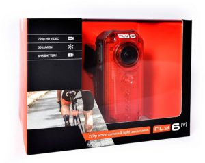 Fly6[v] 720 p action camera and light combination