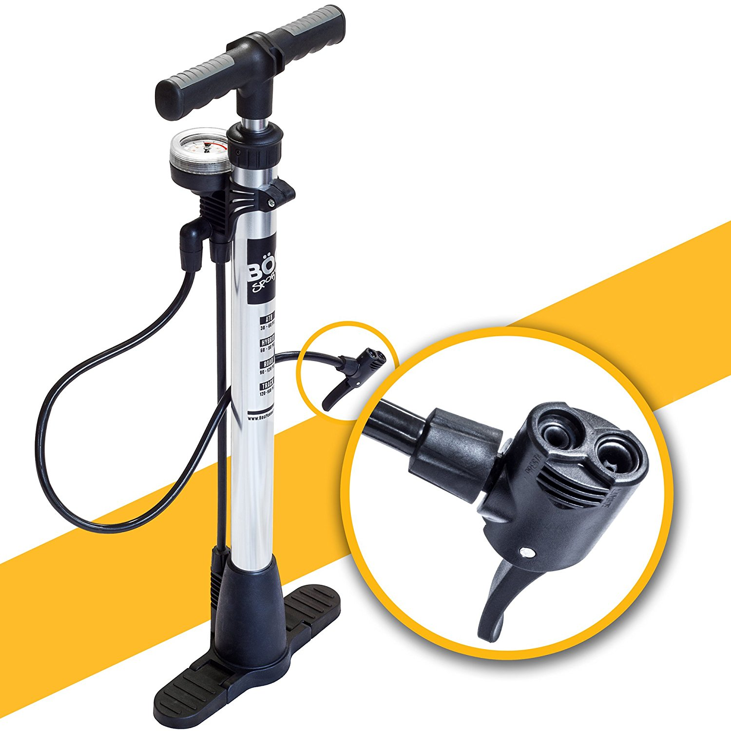 Floor Pump For Presta And Schrader Valves Electric Kids
