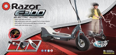 Razor E300 Packaging Electric Kids Scooters